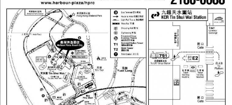Hotel Harbour Plaza Resort City: Mappa HONG KONG