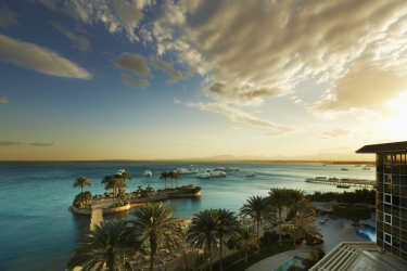 Hotel Marriott Beach Resort: Vue plage / océan HURGHADA