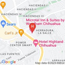 Karte MICROTEL INN & SUITES CHIHUAHUA