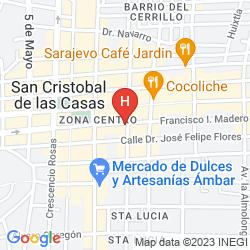 Karte POSADA REAL DE CHIAPAS