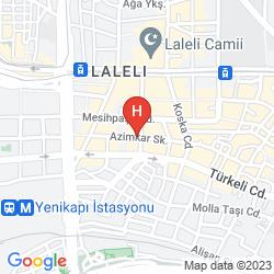 Karte YALTA HOTEL ISTANBUL
