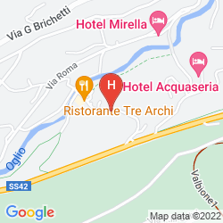 Karte BLU HOTEL ACQUASERIA