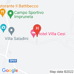 Karte HOTEL VILLA CESI