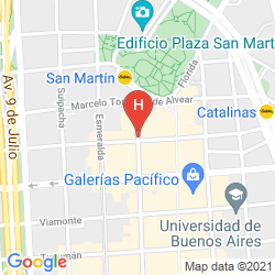 Karte HOTEL PULITZER BUENOS AIRES