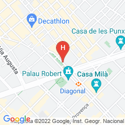Karte COOLROOMS PASEO DE GRACIA