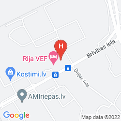 Karte DAYS HOTEL RIGA VEF