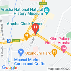 Karte THE ARUSHA HOTEL