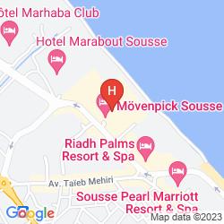Karte Movenpick Resort And Marine Spa Sousse