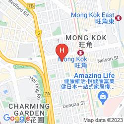 Karte SUNNY DAY HOTEL MONGKOK