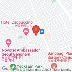 Karte COSMOS HOTEL GANGNAM
