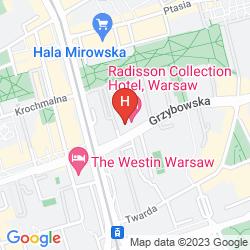 Karte RADISSON COLLECTION HOTEL, WARSAW