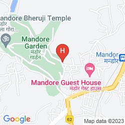 Karte MANDORE GUEST HOUSE -(PURE VEGETARIAN HOTEL)
