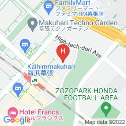 Karte HOTEL GREEN TOWER MAKUHARI