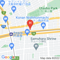 Karte HOTEL ROUTE INN OSAKA HOMMACHI