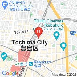 Karte DAI-ICHI INN IKEBUKURO