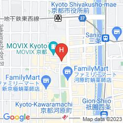 Karte KYOTO TOWER HOTEL ANNEX
