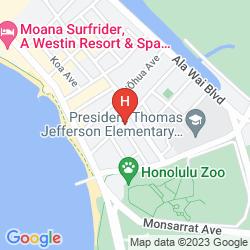 Karte HYATT PLACE WAIKIKI BEACH