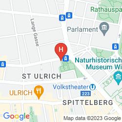 Karte 25HOURS HOTEL WIEN BEIM MUSEUMSQUARTIER
