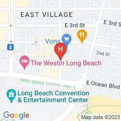 Karte LONG BEACH CONVENTION CENTER TRAVELODGE