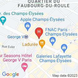 Karte WARWICK PARIS