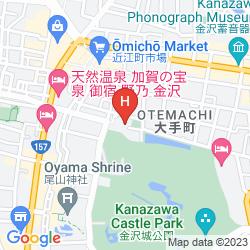 Karte KANAZAWA HAKUCHO HOTEL