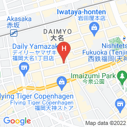 Karte PLAZA HOTEL TENJIN