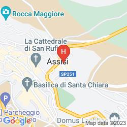 Karte NUN ASSISI RELAIS & SPA MUSEUM
