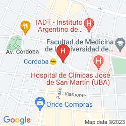 Karte APART HOTEL CORDOBA 860 BUENOS AIRES SUITES