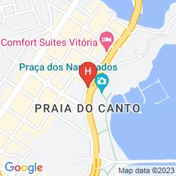 Karte BRISTOL PRAIA DO CANTO