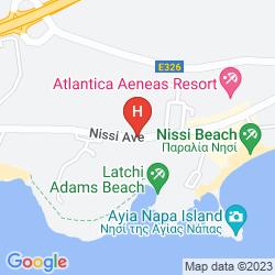 Karte SUN FUN BEACH HOTEL APARTMENTS
