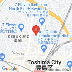 Karte SUPER HOTEL CITY IKEBUKURO KITAGUCHI
