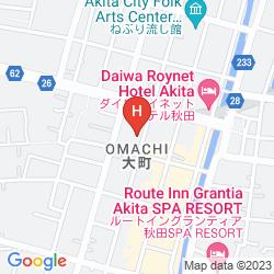 Karte PEARL CITY HOTEL KAWABATA