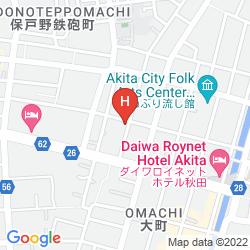 Karte PEARL CITY HOTEL OMACHI