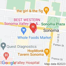 Karte BEST WESTERN SONOMA VALLEY INN