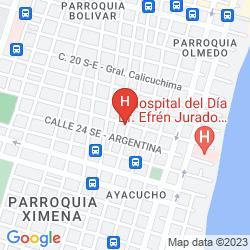 Karte ELOY ALFARO HOTEL
