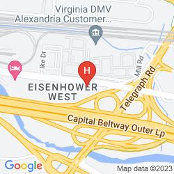 Karte COURTYARD ALEXANDRIA OLD TOWN/SOUTHWEST
