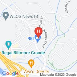 Karte HILTON ASHEVILLE BILTMORE PARK