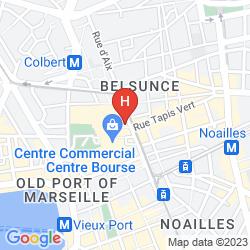 Karte BEST WESTERN HOTEL MARSEILLE BOURSE VIEUX PORT BY HAPPYCULTURE