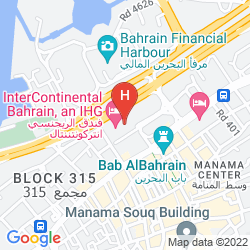 Karte INTERCONTINENTAL BAHRAIN