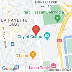 Karte NOVOTEL HOTEL TUNIS