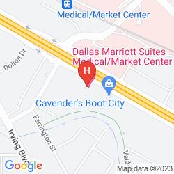 Karte DALLAS MARRIOTT SUITES MEDICAL/MARKET CENTER