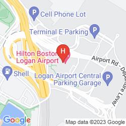 Karte HILTON BOSTON LOGAN AIRPORT