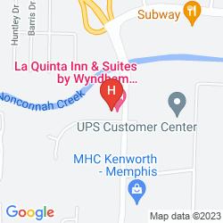 Karte LA QUINTA INN STE MEMPHIS APT GRACELAND