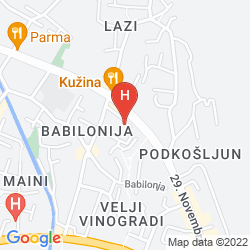 Karte SUN HOSTEL BUDVA