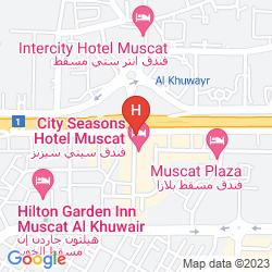 Karte CITY SEASONS HOTEL MUSCAT