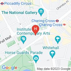 Karte THE TRAFALGAR ST. JAMES LONDON, CURIO COLLECTION BY HILTON