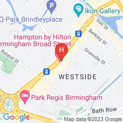 Karte TRAVELODGE BIRMINGHAM CITY CENTRE