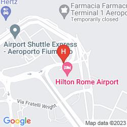 Karte HILTON ROME AIRPORT