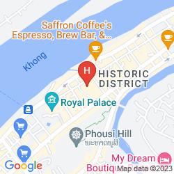 Karte SAYO GUEST HOUSE XIENG MOUANE