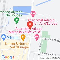 Karte HIPARK BY ADAGIO SERRIS-VAL D'EUROPE